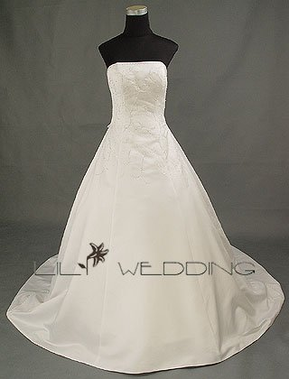 Strapless Wedding Dress - Style LWD0016