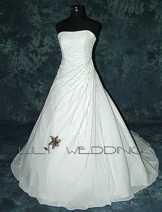Chapel Length Wedding Dress - Style LWD0021