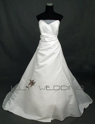 Inexpensive Wedding Gown - Style LWD0044