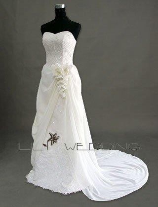 Crystal A-Line Wedding Dress - Style LWD0052