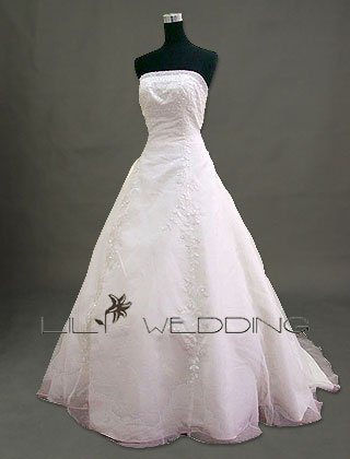 Floor Length Wedding Dress - Style LWD0054