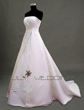 Chapel Train Princess Wedding Dress - Style LWD0056