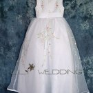 Flower Embroidered Flower Girl Dress - Style LFG0006