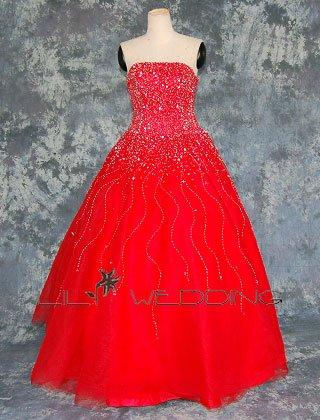 Red Wedding Dress - Style LWD0058