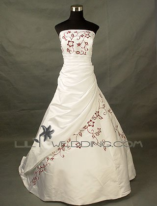 Embroidery Wedding Gown - Style LWD0061