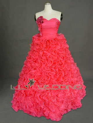 Fuchsia Wedding Dress - Style LWD0063
