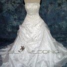 A-Line Floor Length Wedding Gown - Style LWD0065