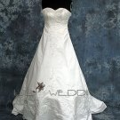 Crystal Beading Sweetheart Neckline Strapless Bridal Gown - Styl