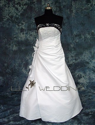 Semi-Cathedral Princess Wedding Dress - Style LWD0077