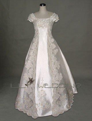 Cap Sleeves Wedding Dress - Style LWD0079