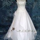Bateau Neckline Wedding Dress - Style LWD0091