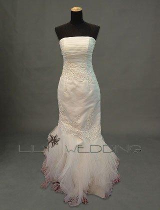 Mermaid Strapless Wedding Dress - Style LWD0097