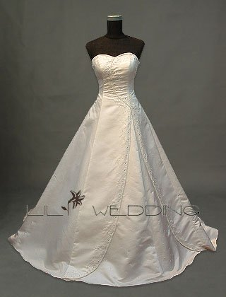 Satin Strapless Bridal Gown - Style LWD0101