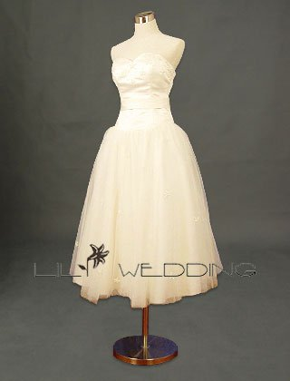 Tea Length Wedding Dress - Style LWD0121