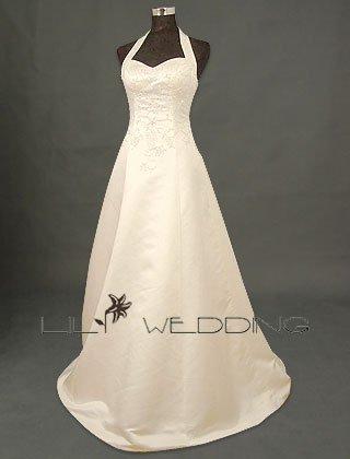 Sweetheart Halter Wedding Dress - Style LWD0122