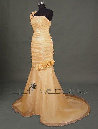One Shoulder Mermaid Bridesmaid Dress - Style LED0026