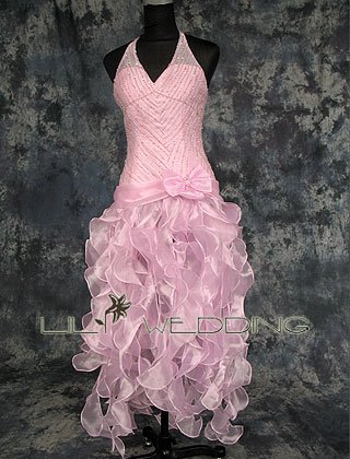 Halter Bridesmaid Dress - Style LED0030