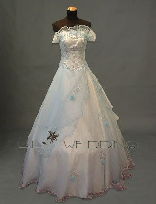 Lightblue Bridesmaid Dress - Style LED0034