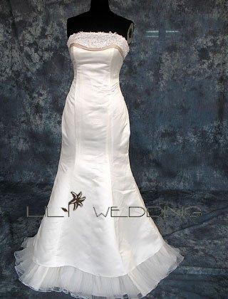 Neckline Beadings Bridal Dress - Style LWD0132