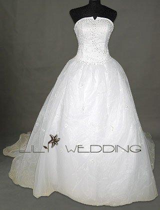 Beadworks Bodice Wedding Dress - Style LWD0137