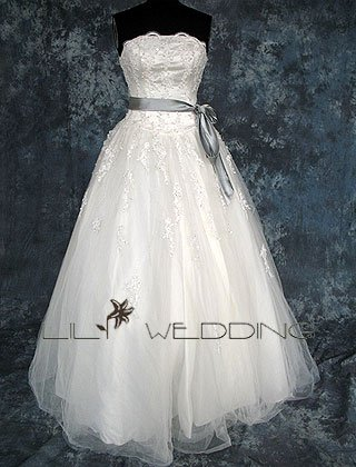 Strapless Wedding Gown - Style LWD0142