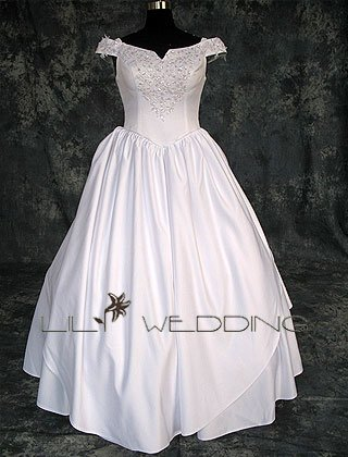 Off-The Shoulder Wedding Dress - Style LWD0156
