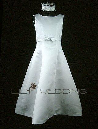 Ankle Length Flower Girl Dress - Style LFG0007
