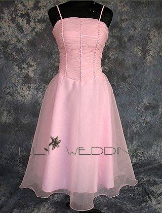 Satin Organza Bridesmaid Dress - Style LED0044