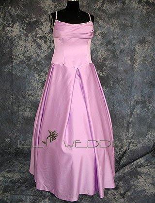 Satin Bridesmaid Dress - Style LED0045