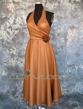 Tea Length Bridesmaid Dress - Style LED0054