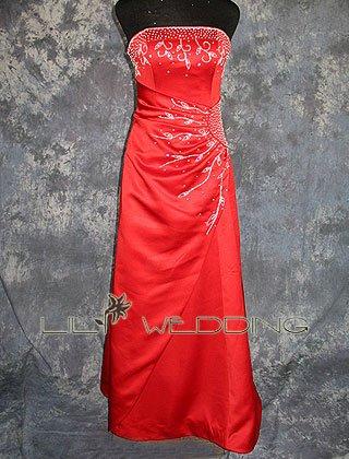 Strapless Slim A-Line Bridesmaid Dress - Style LED0059