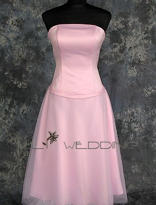 Light Pink Bridesmaid Dress - Style LED0064