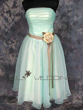 Knee Length Short Bridesmaid Dress - Style LED0068