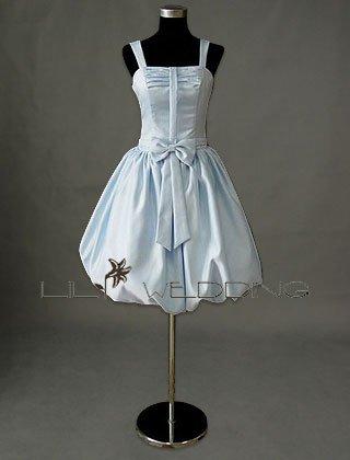 Lightblue Strapless Gown - Style LED0075