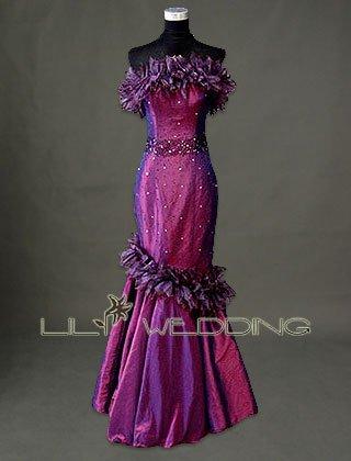 Mermaid Taffeta Bridesmaid Dress - Style LED0083
