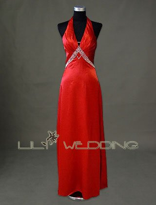 Red Evening Dress - Style LED0091