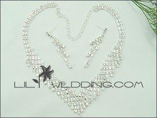Rhinestone Drop 3-Piece Jewelry Set