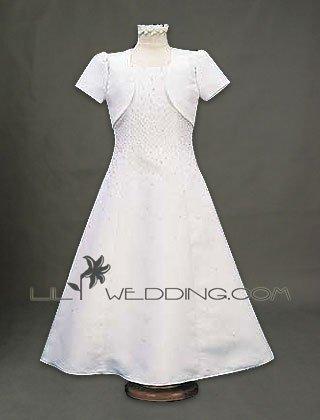Flower Girl Dress With Matching Jacket - Style LFG0020