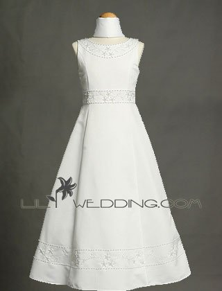 Beads Flower Girl Dress - Style LFG0022