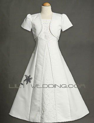 Flower Girl Dress With Matching Jacket - Style LFG0023