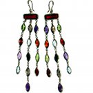 14k Gold Multi Stone Dangle Earrings (39.0 cts.tw.)
