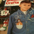 Lot of 3 Craft Books/Booklets of Snowman Crafts, Flower Crafts, CanCrafts