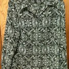 Sag Harbor Black & Gray Long Sleeve Blouse Size Medium