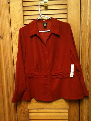 Womens  East 5th L/S Blouse Size 1X - New with Tags