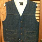 Vintage Mens SEARS ROEBUCK SHERPA LINED Denim VEST- Small