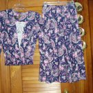 Vintage Ladies Misses Womens 2 pc Skirt & Top Outfit Sz 6 L@@K