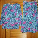 Vintage Ladies Misses Womens 2 Pc Skirt Top Outfit Sz 8
