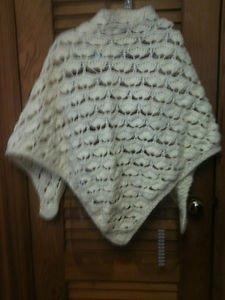 Ladies Beautiful Hand Crocheted Ecru / Off White Shawl Wrap Scarf