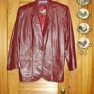 Etienne Aigner Burgundy Blazer Coat Jacket Sz 8 MINT