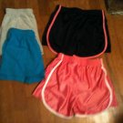 Lot of 4 pair of Girls Shorts - Danskin Now & Faded Glory -  M 7/8  - L@@K!!